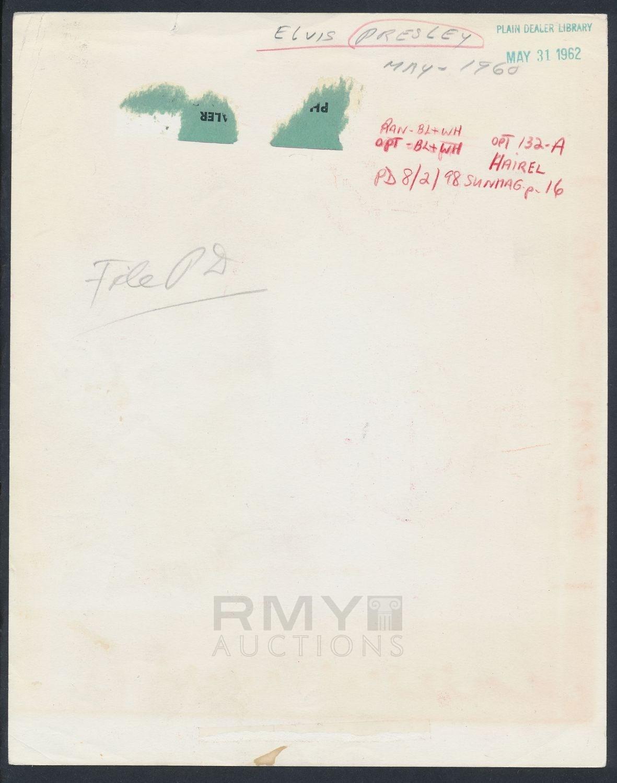 Lot # 409: 1962 Elvis Presley,