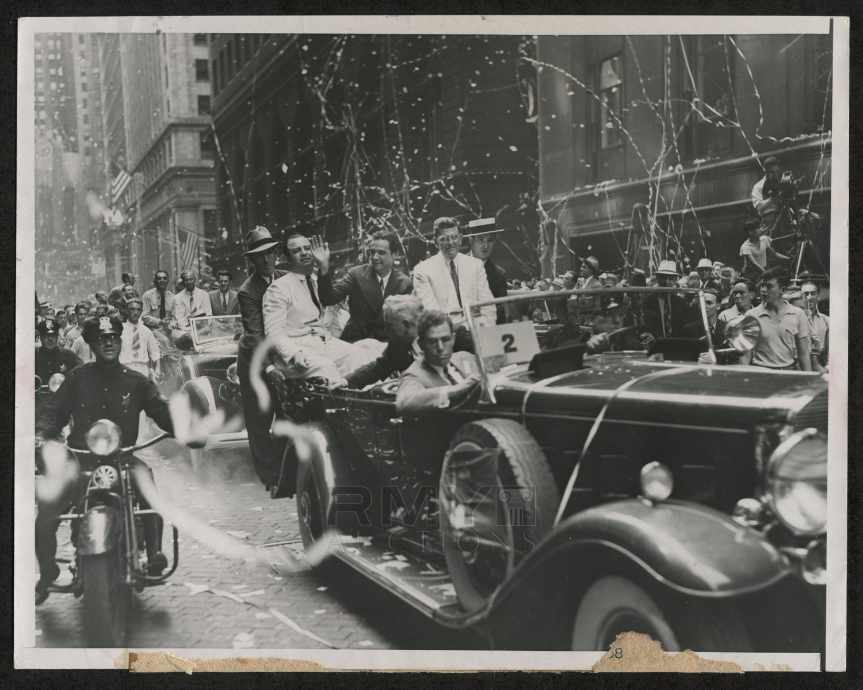 "Lot # 997: 1938 Howard Hughes, ""Ticker-Tape Parade for World ..."